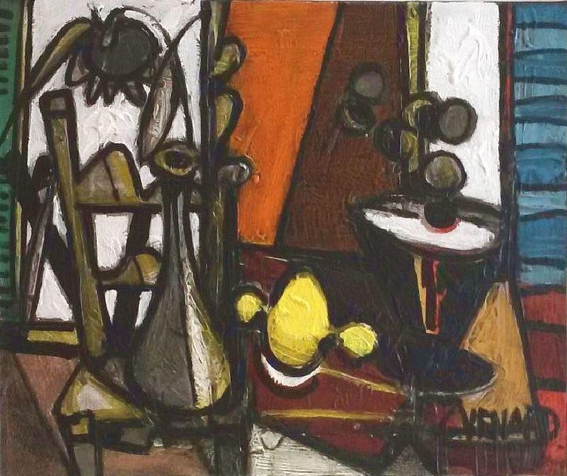 Claude VENARD - Painting - Composition au Citron