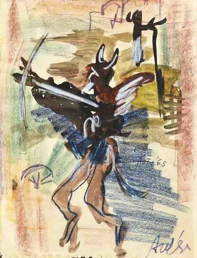 Filippo AUTI - Drawing-Watercolor - Lucifero
