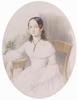 "Josef Alexander KORUNA - Zeichnung Aquarell - ""Portrait of a Young Lady"", Watercolour"