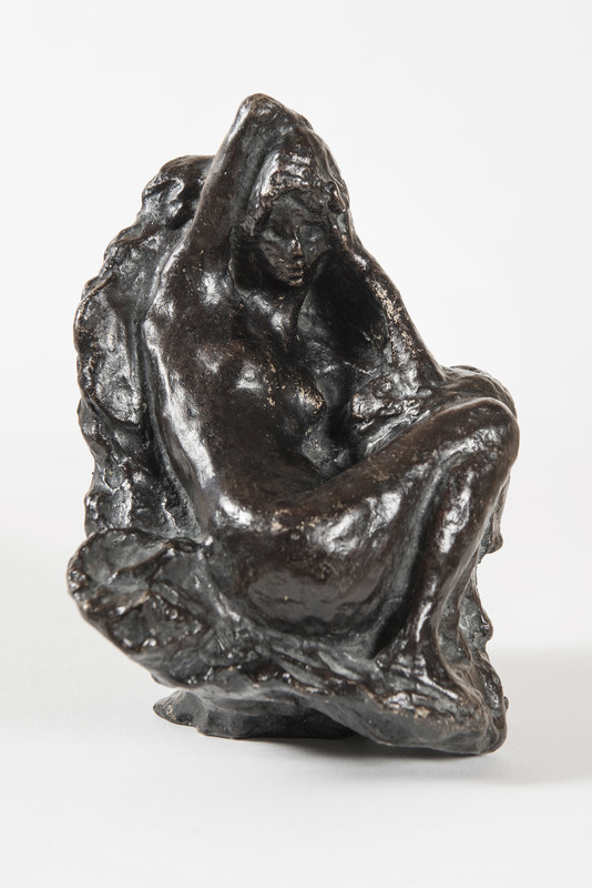 Pierre BONNARD - Sculpture-Volume - Baigneuse assise devant un rocher, son bras droit replié der