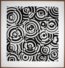 Antonio ASIS - Print-Multiple - interferences cercles noir et blanc