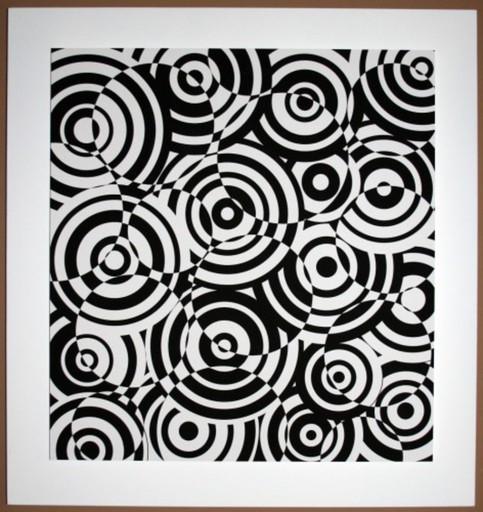 Antonio ASIS - Grabado - interferences cercles noir et blanc