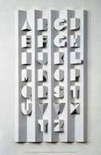 Ronald KING - Sculpture-Volume - alphabet II