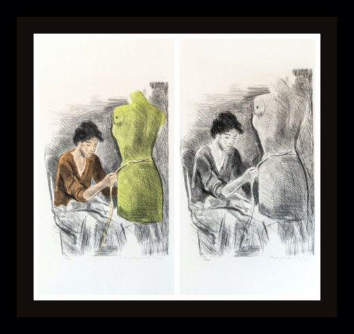 Raphael SOYER - Druckgrafik-Multiple - Seamstress II Portfolio