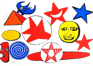 Alexander CALDER, Abstract Gallery Composition