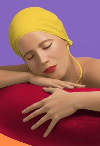 Carole FEUERMAN - Stampa Multiplo - Serena with yellow cap