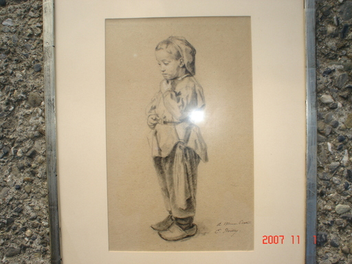 Eugène BOILLY - Drawing-Watercolor - l'enfant