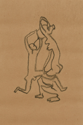 """Robert COUTURIER - Drawing-Watercolor - ETUDE POUR LA SCULPTURE """"L'EAU"""""""