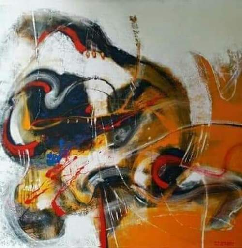 R.U. SUBAGIO - Painting - The Dialogue of the Universe