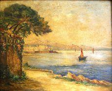 Jean Eugène Julien MASSÉ - Pintura - Antibes les remparts