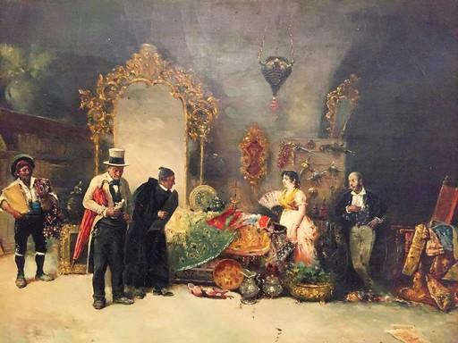 "Cristobal PIZA ENSENYAT - Painting - ""Atelier d'antiquaire"""