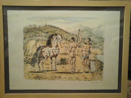 Giorgio DE CHIRICO - Stampa Multiplo - Dioscuri con cavallo