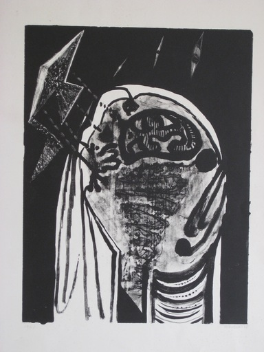 Jean PIAUBERT - Stampa-Multiplo - LITHOGRAPHIE SIGNÉE CRAYON NUM/48 HANDSIGNED LITHOGRAPH