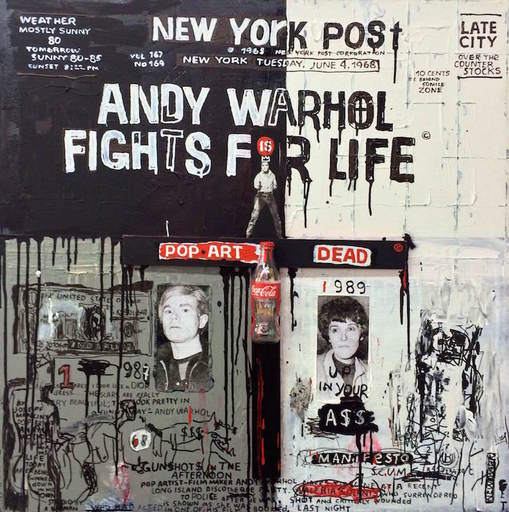 Maxim BASHEV - Sculpture-Volume - Andy Warhol Fights for Life