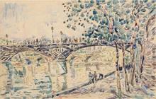 保罗•西涅克 - 水彩作品 - Paris, le Pont des Arts