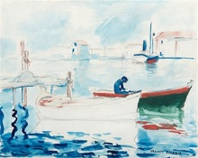 Francis PICABIA - Drawing-Watercolor - Port de Saint Raphael