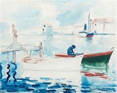 Francis PICABIA - Dibujo Acuarela - Port de Saint Raphael