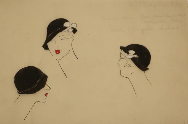 Léo TISSANDIÉ - Pintura - Ensemble dessins techniques de chapeaux