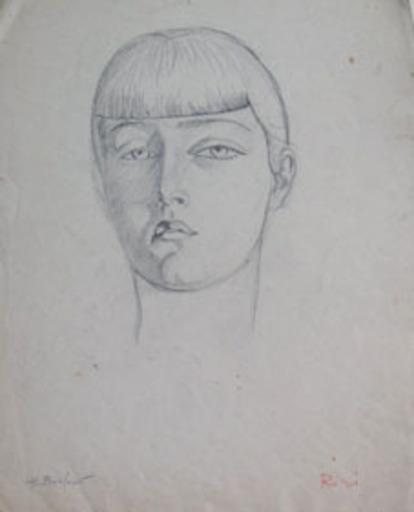 Henryk BERLEWI - Dessin-Aquarelle - Portrait of Riri