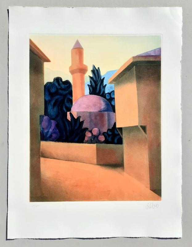 SALVO - Stampa-Multiplo - Il minareto