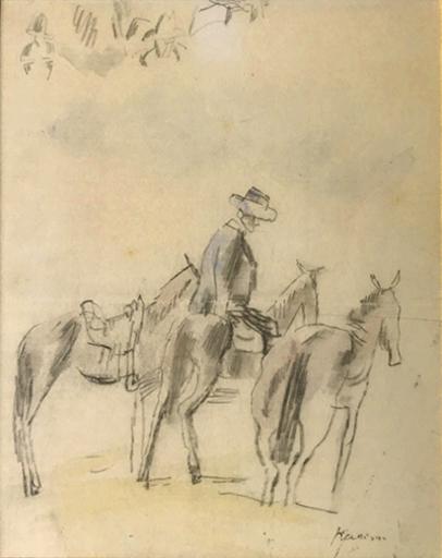 Jules PASCIN - Disegno Acquarello - L' Anier