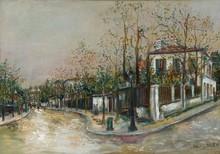 莫里斯•郁特里罗 - 绘画 - Rue à Sannois