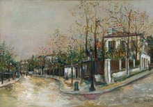 Maurice UTRILLO - Painting - Rue à Sannois