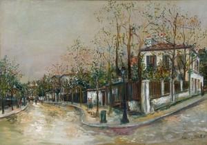 Maurice UTRILLO - Pintura - Rue à Sannois