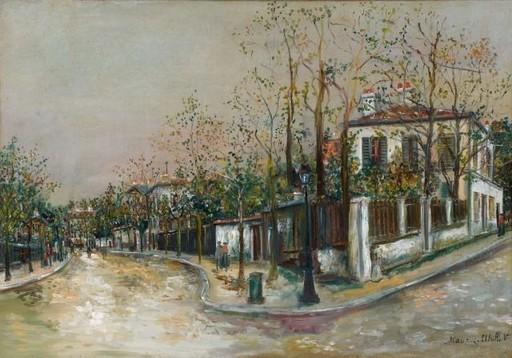 Maurice UTRILLO - Peinture - Rue à Sannois
