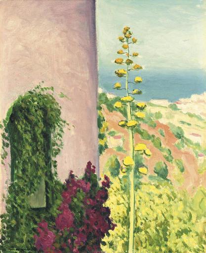 Albert MARQUET - Painting - Aloès fleuri