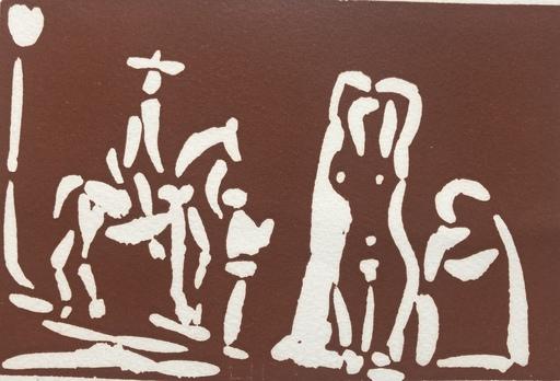 巴勃罗•毕加索 - 版画 - CAVALIER ET 3 FIGURES