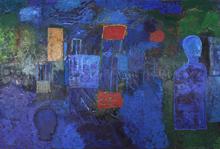 Mimmo PALADINO - Painting - Clair de Lune (painting)