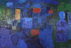 Mimmo PALADINO - Painting - Clair de Lune