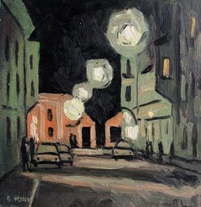 Valeriy NESTEROV - Peinture - Gostinniy Dvor. Leningrad