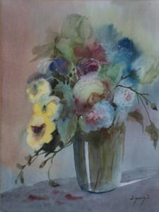 Jorge VASQUEZ QUIÑONES - Painting - Sin Título
