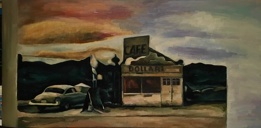 Robert DRAGOT - Pintura - On road 66 - ( GO WEST) series