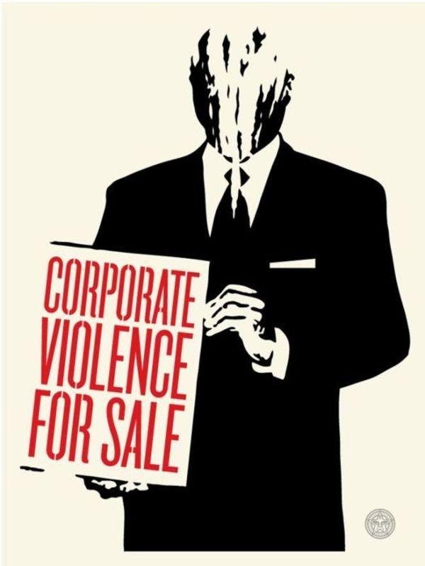 Shepard FAIREY - Print-Multiple - Corporate Violence for Sale