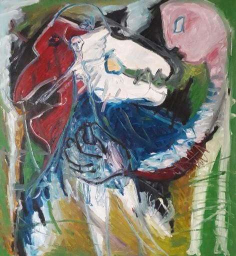 Bernard MOREL - Gemälde - PEINTRE ET MODELE