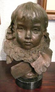 Mariano BENLLIURE Y GIL - Escultura - Busto de niña