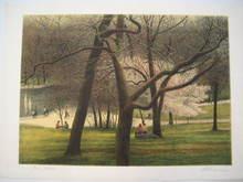 """Harold ALTMAN - Grabado - """"Le Parc"""" 1986"""