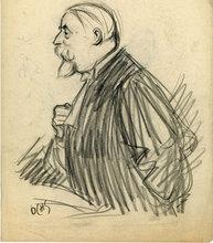 Jacques OCHS - Drawing-Watercolor - L'avocat