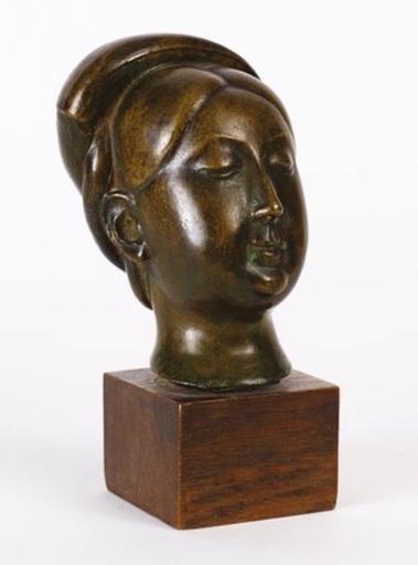 Cao Dam VU - Sculpture-Volume - Tête de jeune femme