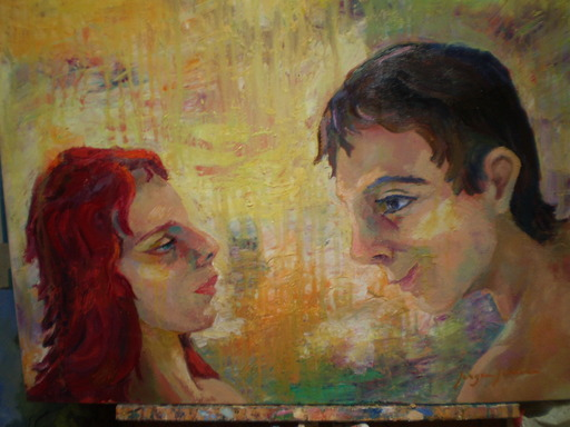 Serge SIEVIC - Peinture - Saint Valentin