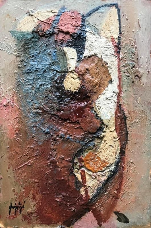 Manolo RUIZ PIPO - Peinture - Femme – Réalisé sur une des palettes du peintre