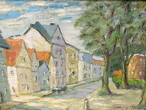 Walter BRÜGGMANN - Pittura - Alte Holstenstrasse in Bergedorf