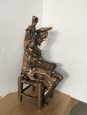 Salvador DALI - Sculpture-Volume - Don Quixote Seated (Prestige-scale)