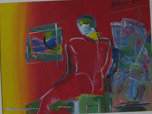 Peter MAX - Gemälde - * Degas Man