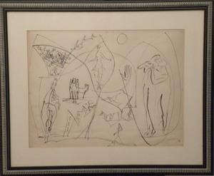 Léopold SURVAGE - Dessin-Aquarelle - allegories á la danse