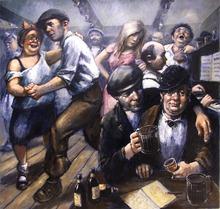 Barry LEIGHTON-JONES - Painting - The Pub