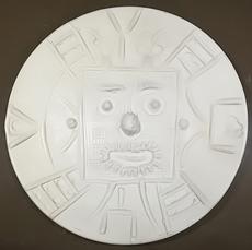 Pablo PICASSO - Ceramic - Face in a square